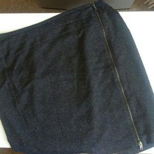 WORTHINGTON gray zipper pencil skirt